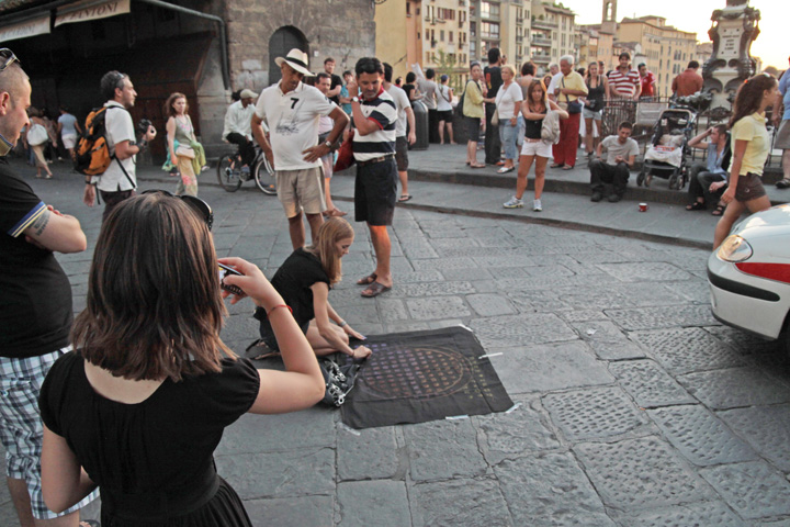 Art by Dwight Manhole Cover Lifts on Canvas Florence Italy