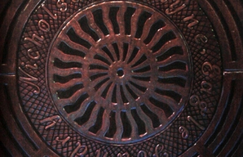 Art by Dwight Manhole Cover Rubbings Pittsburgh PA Made-in-Pittsburgh-at-6am